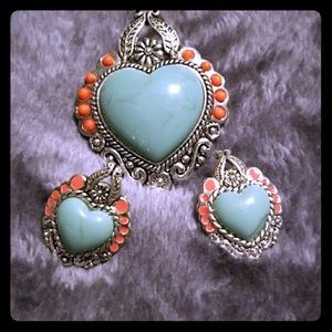 Pendent and earring set